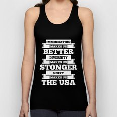 Immigration USA Unisex Tank Top