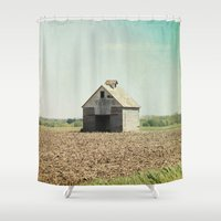 american beauty Shower Curtains featuring American Beauty Vol 21 by Farmhouse Chic
