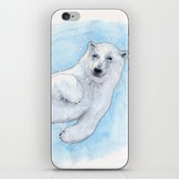 polar bear iPhone & iPod Skins featuring Polar bear underwater by Savousepate