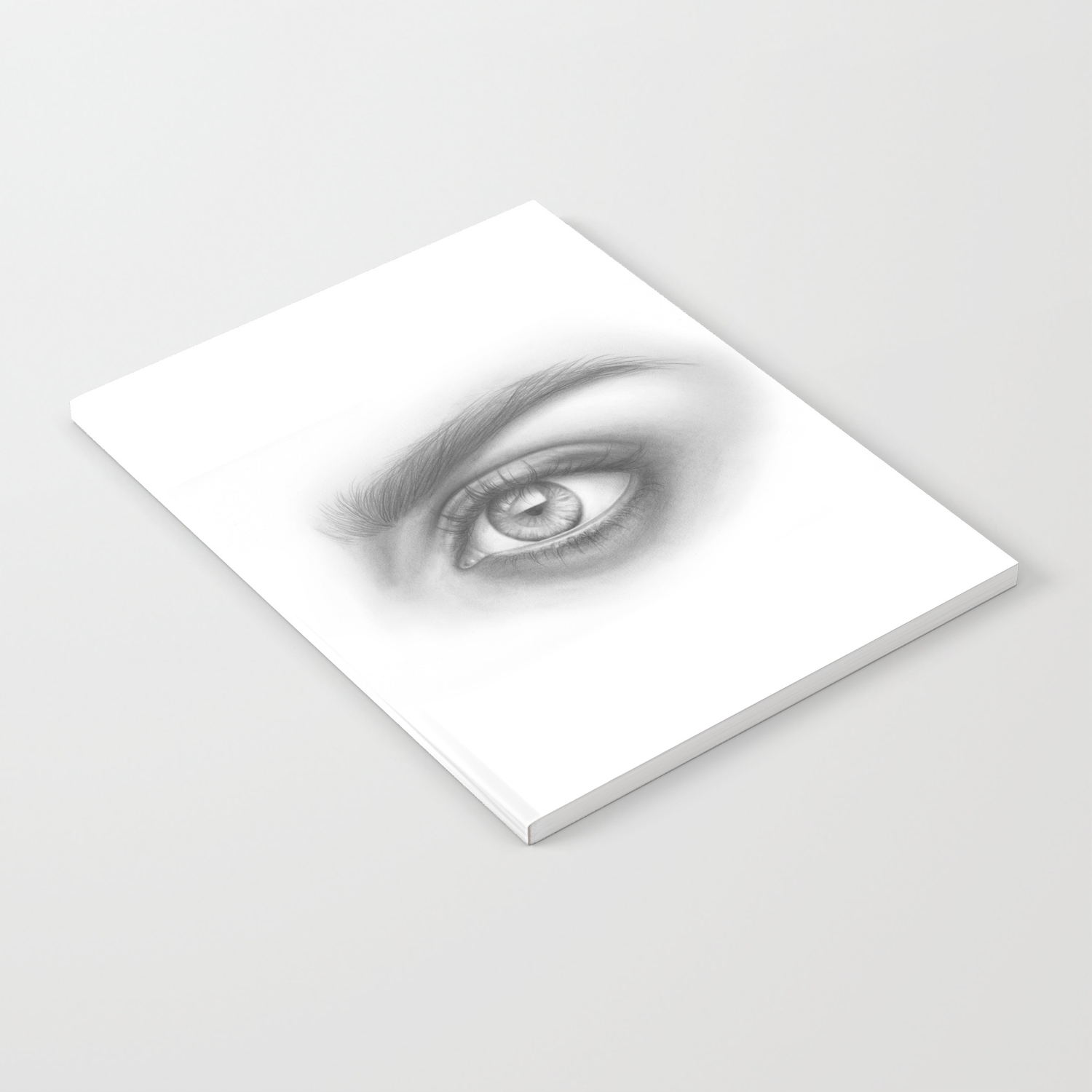 Eye art sexy girl beauty model woman face graphite drawing pencil black and white art notebook