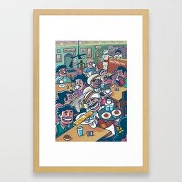India Coffee House Framed Art Print