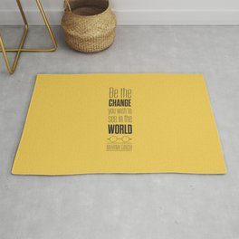 Lab No. 4 - Mahatma Gandhi Motivational Quotes Poster Rug