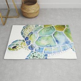 Sea Turtle - coastal - beach - sealife - ocean animals Rug
