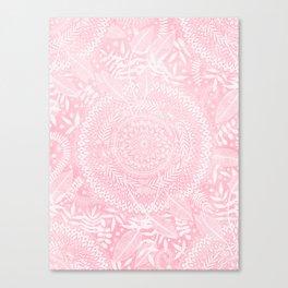 Medallion Pattern in Blush Pink Canvas Print