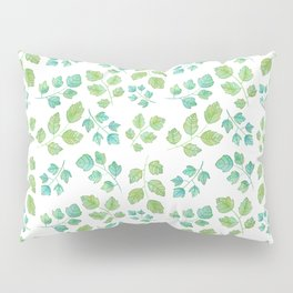 Summer Leaf Watercolor Pillow Sham