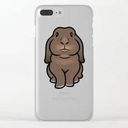 Coco the Minilop Bunny Clear iPhone Case