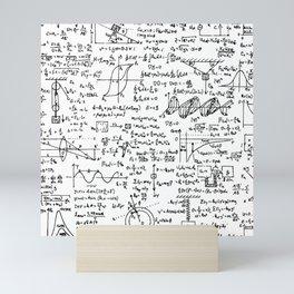 Physics Equations on Whiteboard Mini Art Print