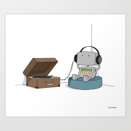 Little Robot  Art Print