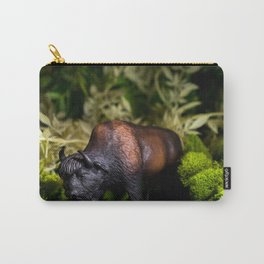 A Bison/Buffalo in lush greenery Carry-All Pouch