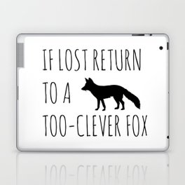 If lost return to a too-clever fox Laptop & iPad Skin