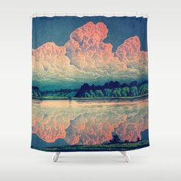 Admiring the Clouds in Kono Shower Curtain