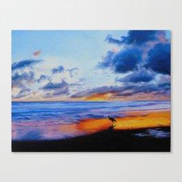 Bird at Waters Edge Canvas Print