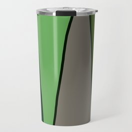 Green Abstract Pattern Turtle Travel Mug