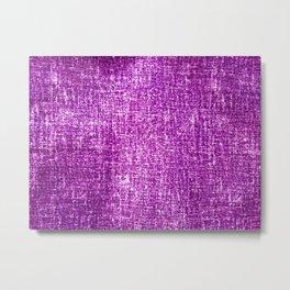 Pretty Purple Distressed Pattern Metal Print