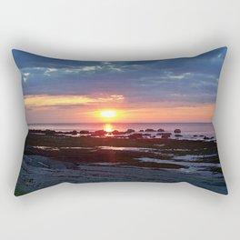 Sunset under Stormy Skies Rectangular Pillow