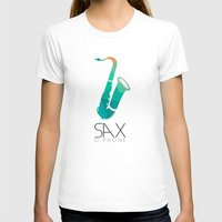 saxophone T-shirts featuring SAXophone by Onie O