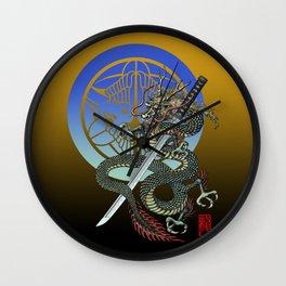 Dragon katana Uesugi Wall Clock