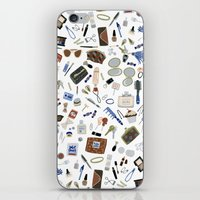 wallet iPhone & iPod Skins featuring Girly Objects by Yuliya