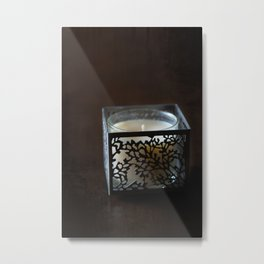 Candle Holder Metal Print