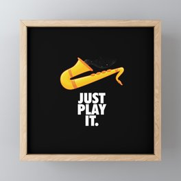 Just Play It Framed Mini Art Print