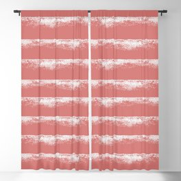 Irregular Stripes Coral Blackout Curtain