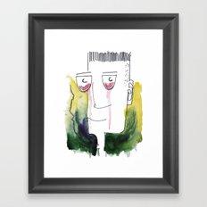 Red Tears Framed Art Print