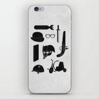 kubrick iPhone & iPod Skins featuring 2011: A Kubrick Odyssey by Florent Bodart / Speakerine