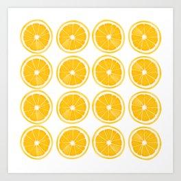 Orange Slice Pattern Art Print