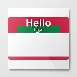 Hello I am from Maldives Metal Print
