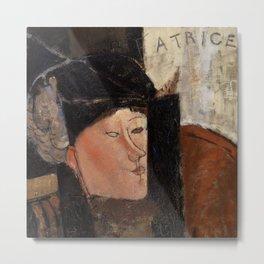 "Amedeo Modigliani ""Beatrice Hastings"", 1916 Metal Print"