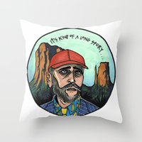 texas Throw Pillows featuring Texas by Laura Pato