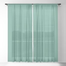 Mid-tone Summer Gemstone Green Solid Color Parable to Beach Grass 5008-8B by Valspar Sheer Curtain