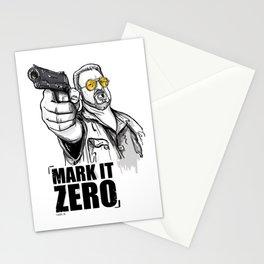 Mark it zero, the big lebowski Stationery Cards