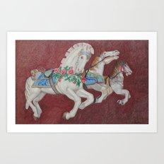 Carousel Race Art Print