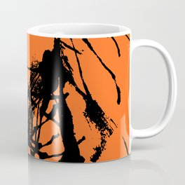 Orange Base black Coffee Mug