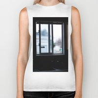 window Biker Tanks featuring Window by RMK Photography