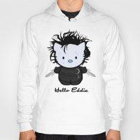 eddie vedder Hoodies featuring Hello Eddie Scissorhands by Ludwig Van Bacon