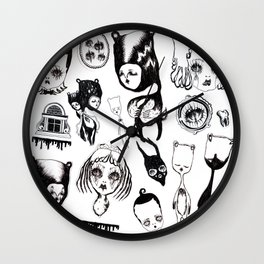 Attic Beings Wall Clock