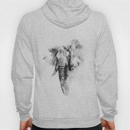 Black n White Painted elephant Hoody