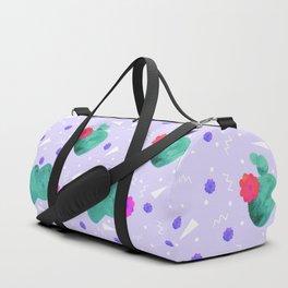 Hello Cactus Lavender Background Duffle Bag