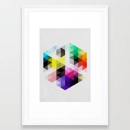 Geo Hex 01. Framed Art Print