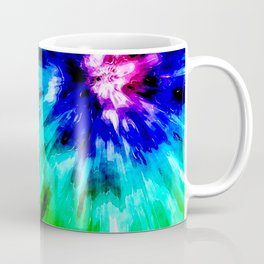 Tie Dye Meets Watercolor Coffee Mug