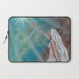 Angelfish Mermaid Fantasy Art by Laurie Leigh Nude Laptop Sleeve