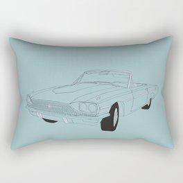 1966 Ford Thunderbird Rectangular Pillow
