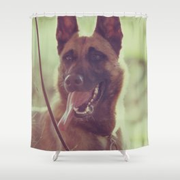 Malinios Beauty dog picture Shower Curtain
