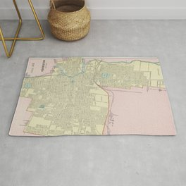 Vintage Map of Columbus Ohio (1901) Rug