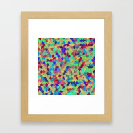 Colorful Geometric Pattern #10 Framed Art Print