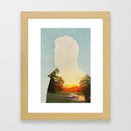 Dean Winchester Supernatural Impala  Framed Art Print