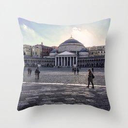 Piazza del Plebiscito, Napoli, Italy Throw Pillow