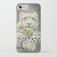 snow leopard iPhone & iPod Cases featuring Snow Leopard by Pauline Fowler ( Polly470 )